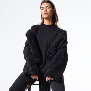 ALO Yoga Black Cozy Up Jacket